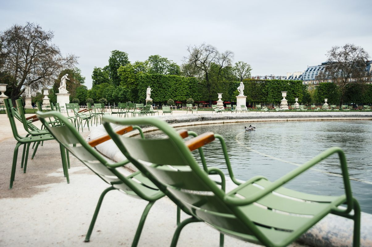 Early springtime in the Tuileries Garden in Paris